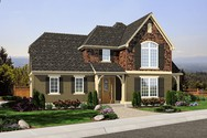 Front Rendering of Mascord House Plan 2102AE - The Gutenberg