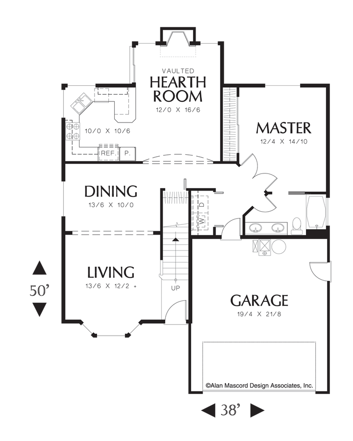Image for Hadley-Cape Cod Style Plan with Hearth Room-Main Floor Plan