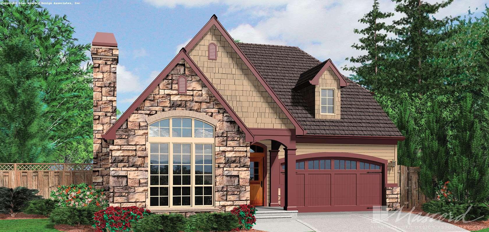 Mascord House Plan 21102: The Miranda