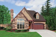 Front Rendering of Mascord House Plan 21102 - The Miranda