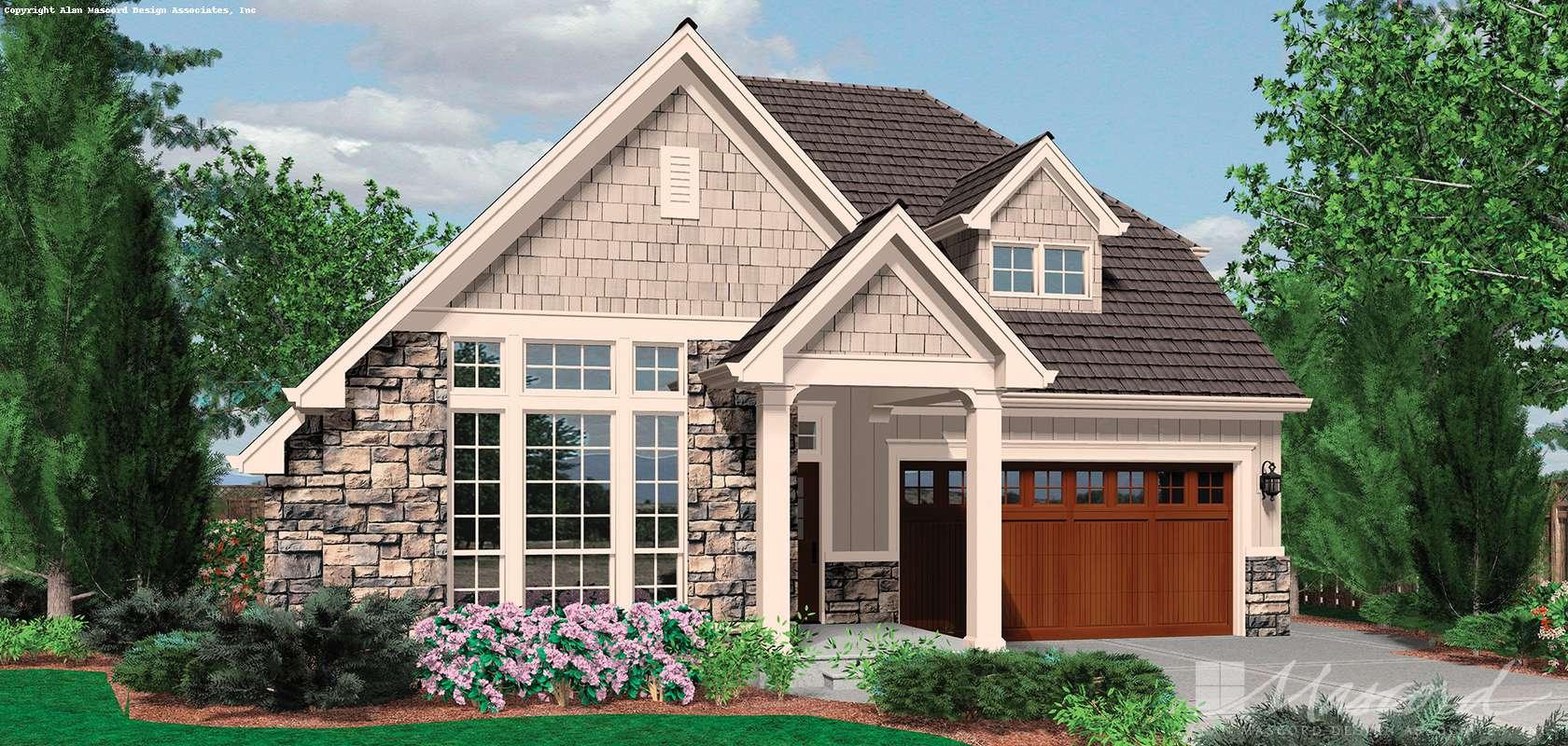Mascord House Plan 21102A: The Marshall