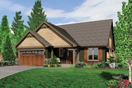 Front Rendering of Mascord House Plan 21103 - The Ellwood