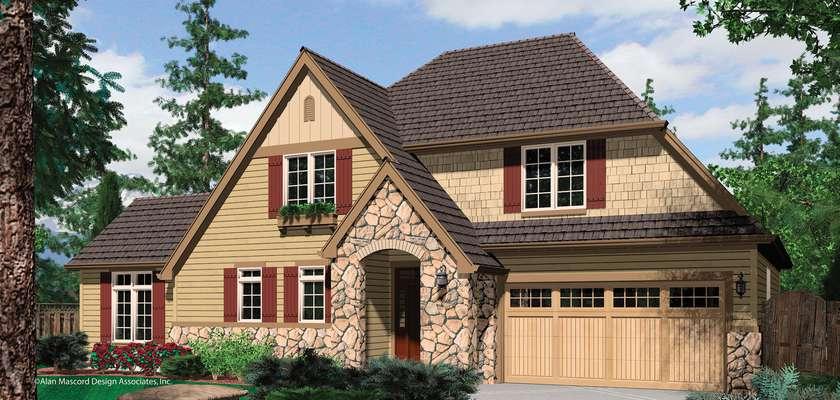 Mascord House Plan 21104: The Wycoff