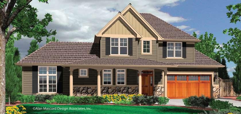 Mascord House Plan 21104A: The Prescott