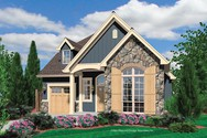 Front Rendering of Mascord House Plan 21105 - The Sherwood
