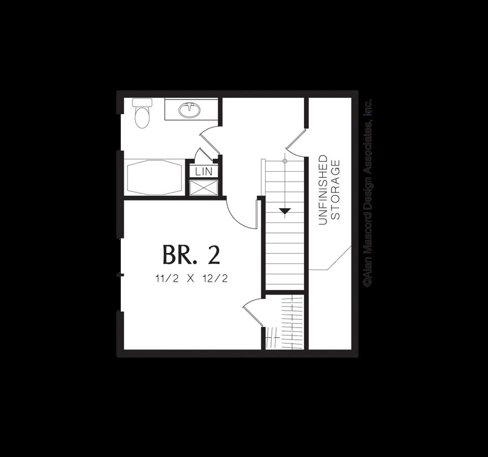 Mascord House Plan 21105 The Sherwood