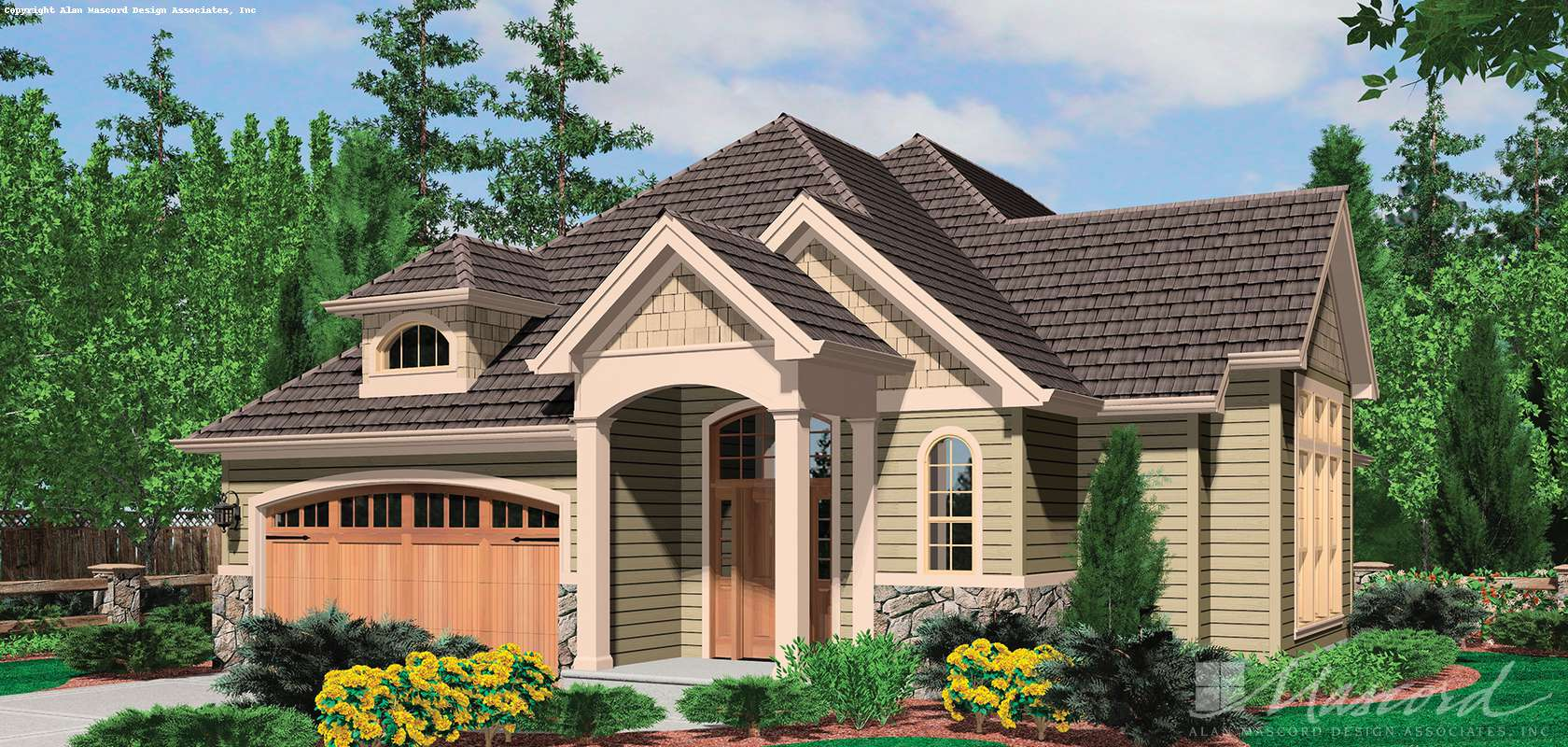 Mascord House Plan 21106: The Richmond