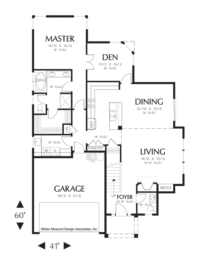 Mascord House Plan 21106 The Richmond