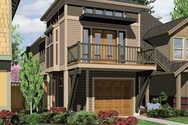 Front Rendering of Mascord House Plan 21107 - The Skycole