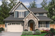 Front Rendering of Mascord House Plan 21111 - The Brumley