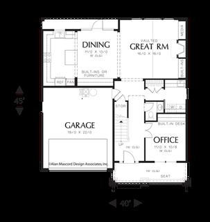 Image for Brentwood-Three Bedroom Bungalow-Main Floor Plan