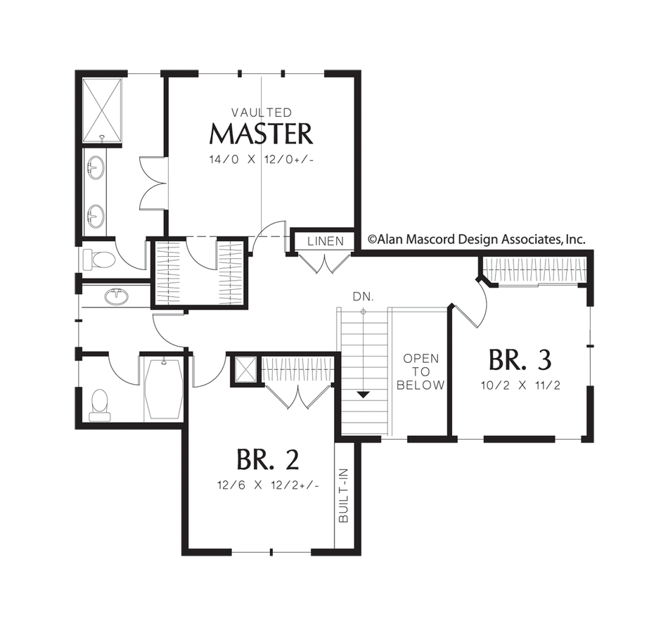 Mascord House Plan 21111a The Brentwood