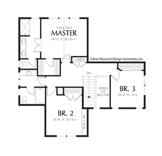 Mascord house plan 21111a the brentwood for Brentwood house plan