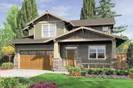 Front Rendering of Mascord House Plan 21111A - The Brentwood
