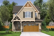 Front Rendering of Mascord House Plan 21112 - The Gilmore
