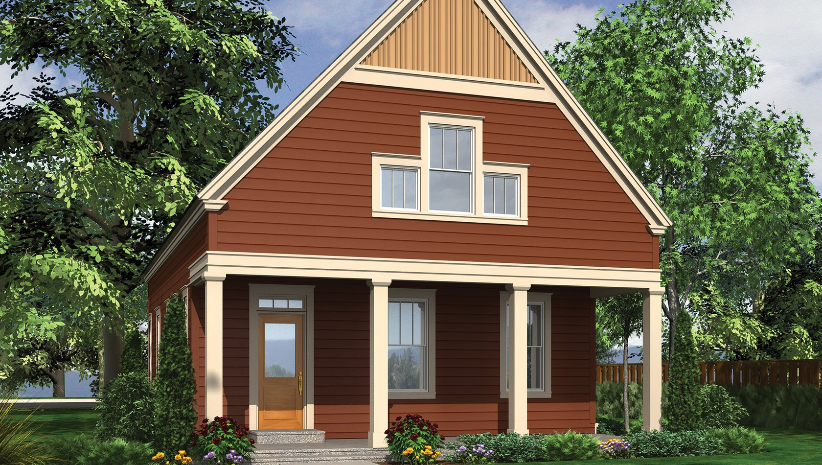 Mascord House Plan 21114: The Jasmine