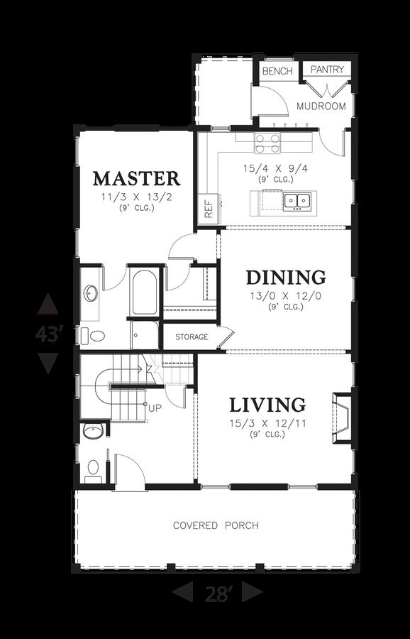 Coastal House Plan 21114 The Jasmine: 1895 Sqft, 3 Bedrooms, 2.1 ...