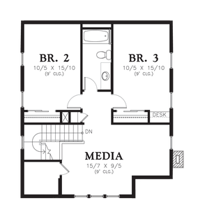Image for Osprey-Open Floor Plan and Media Room-Upper Floor Plan