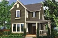 Front Rendering of Mascord House Plan 21116 - The Sullivan