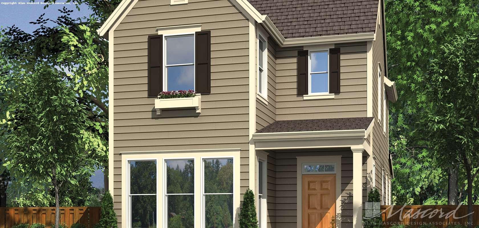 Mascord House Plan 21116A: The Elsie