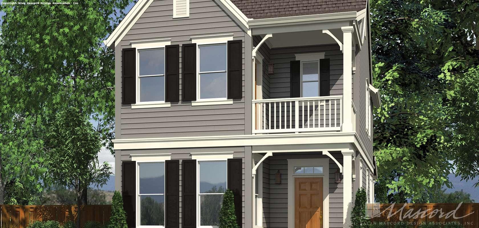 Mascord House Plan 21116B: The Ashville