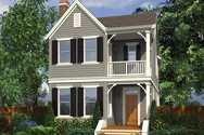 Front Rendering of Mascord House Plan 21116B - The Ashville