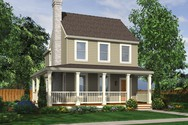 Front Rendering of Mascord House Plan 21118 - The Mallory