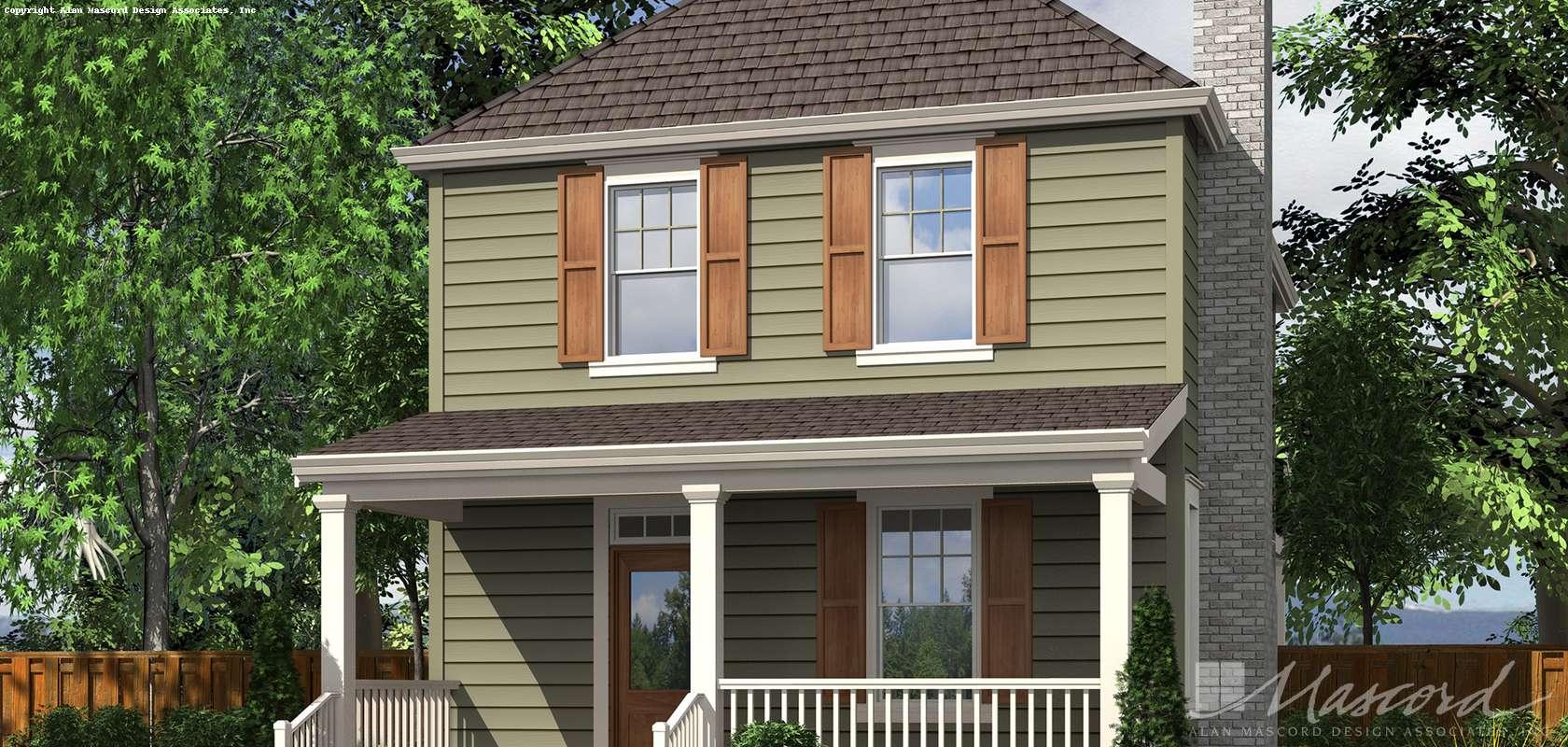 Mascord House Plan 21118B: The Juniper