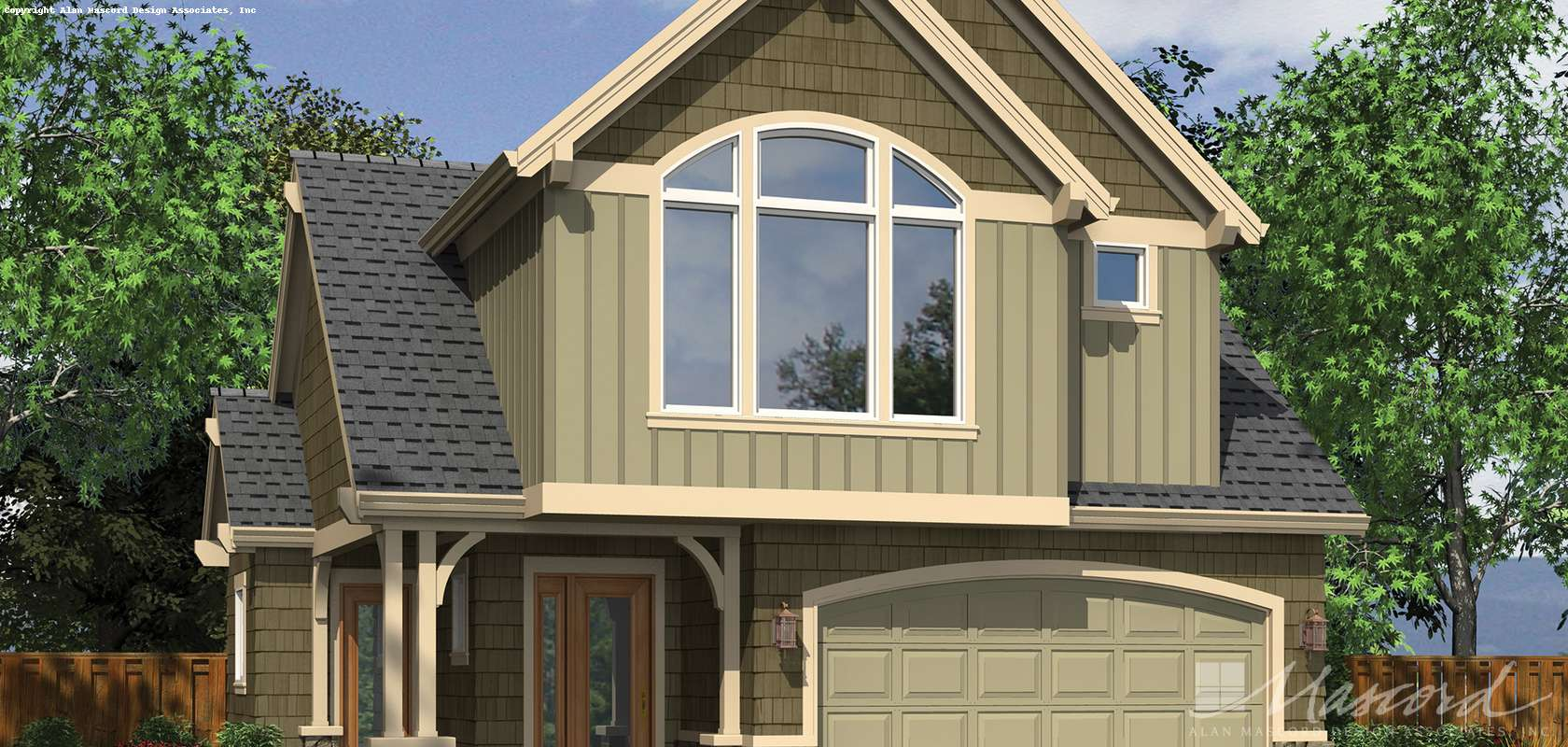 Mascord House Plan 21120: The Willowdale