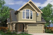 Front Rendering of Mascord House Plan 21120 - The Willowdale