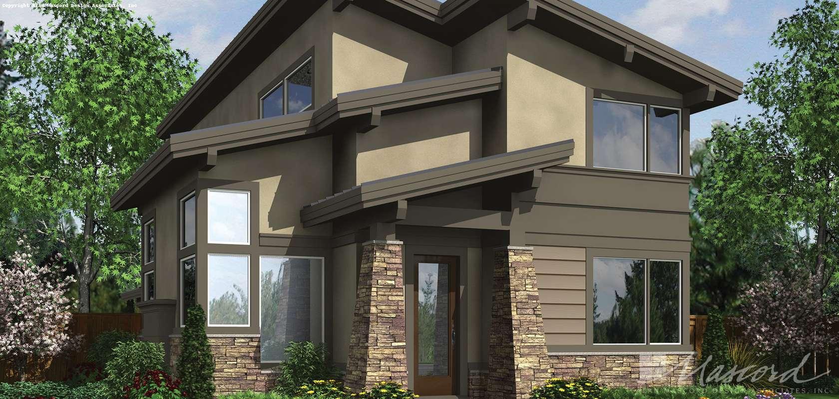 Mascord House Plan 21121: The Darbi