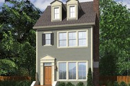 Front Rendering of Mascord House Plan 21122 - The Garvin