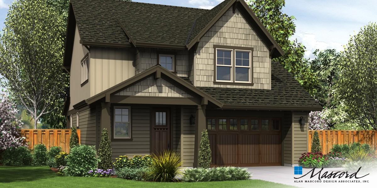 Mascord house plan 21124ba the halsey for Suburban house plans