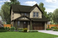 Front Rendering of Mascord House Plan 21124BA - The Halsey