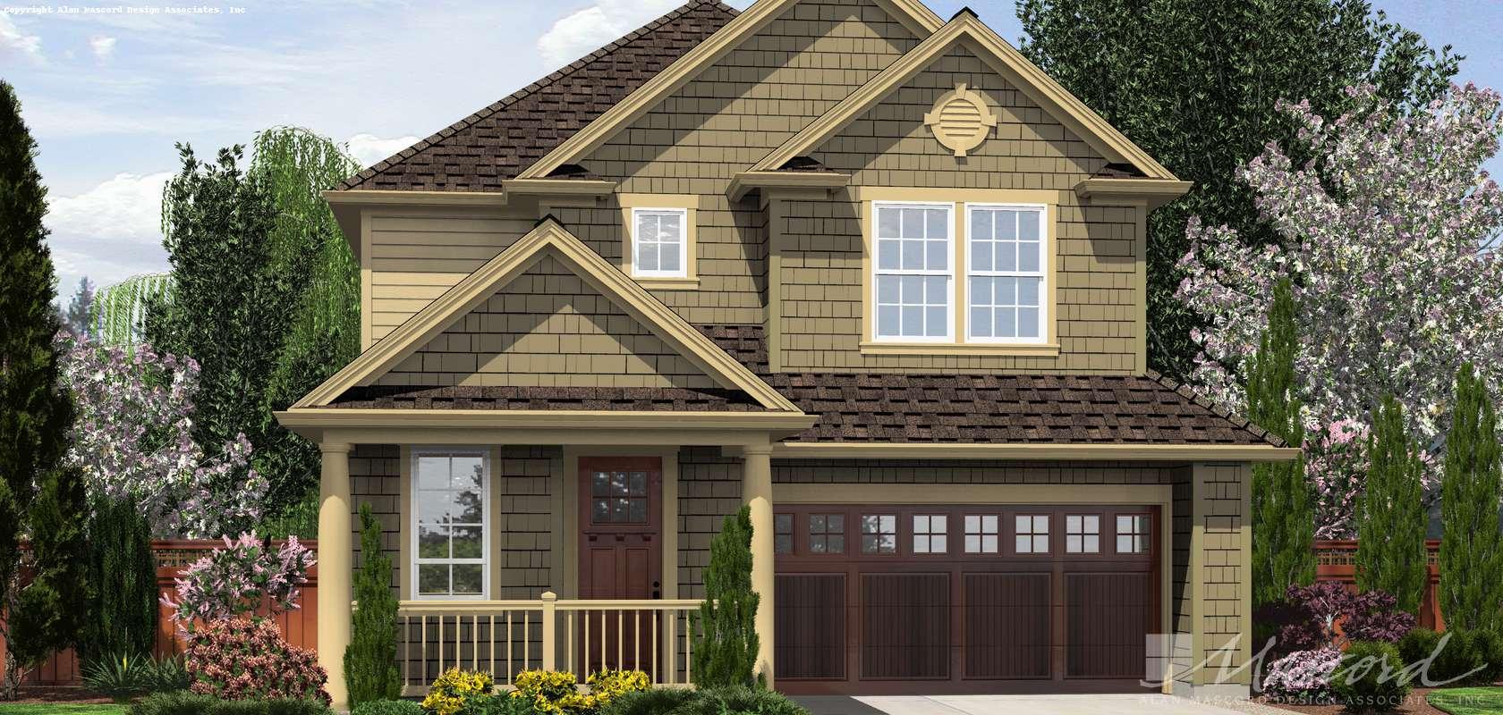 Mascord House Plan 21124C: The Hazel Green
