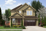 Front Rendering of Mascord House Plan 21124C - The Hazel Green