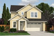 Front Rendering of Mascord House Plan 21124B - The Fernwood