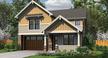 The Barnsley Craftsman House Plans 21125  | The Barnsley: Craftsman Home with Vaulted Great Room, Fireplace & More!