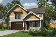 Front Rendering of Mascord House Plan 21125 - The Barnsley