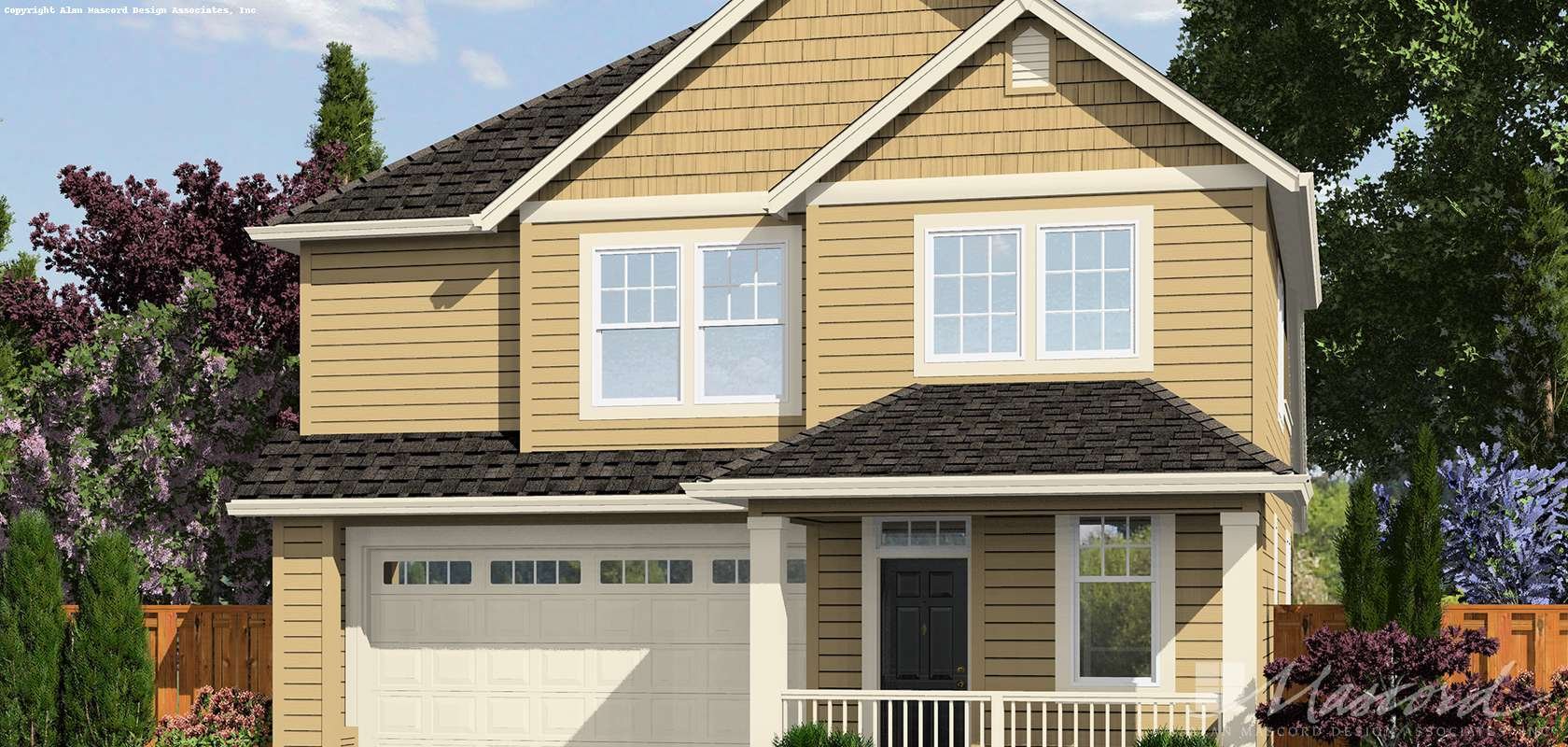 Mascord House Plan 21126A: The Yamhill