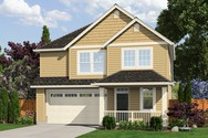 Front Rendering of Mascord House Plan 21126A - The Yamhill