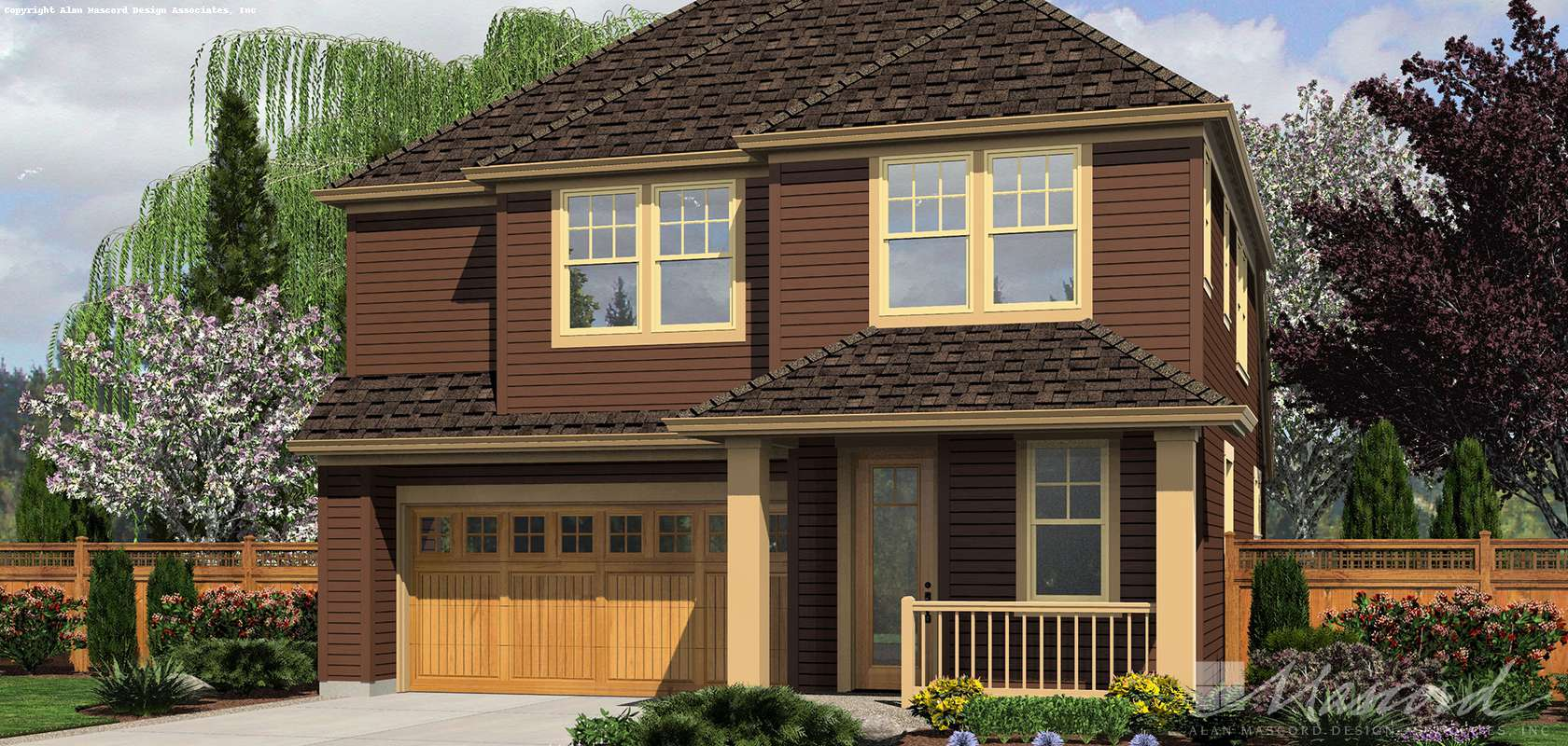 Mascord House Plan 21126AC: The Honeydale