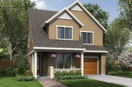 Front Rendering of Mascord House Plan 21127 - The Sunnycrest