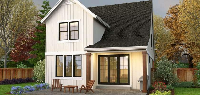 Mascord House Plan 21127A: The Fallston