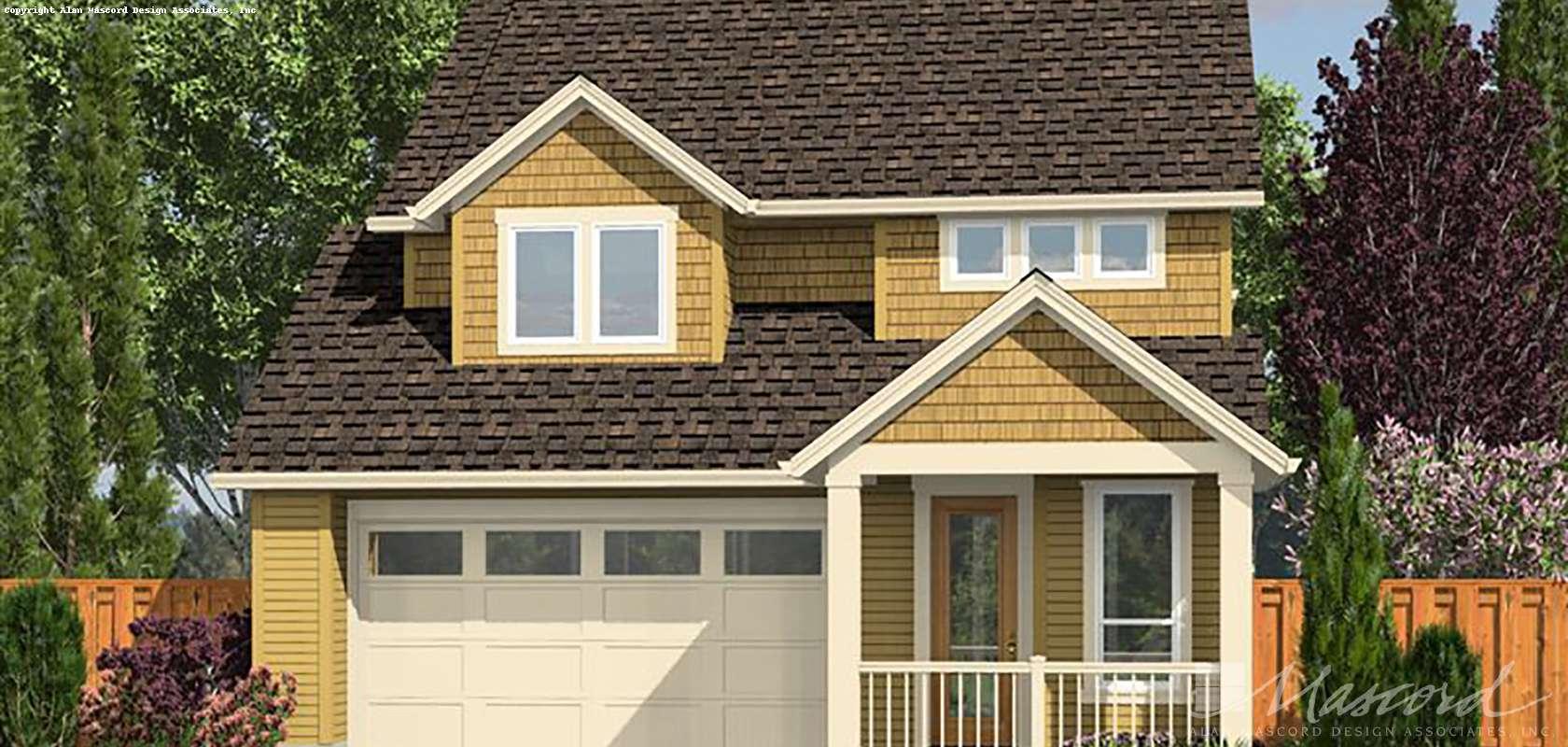 Mascord House Plan 21128A: The Carpenterville