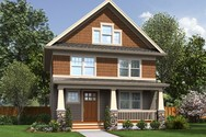 Front Rendering of Mascord House Plan B21133 - The Darlington