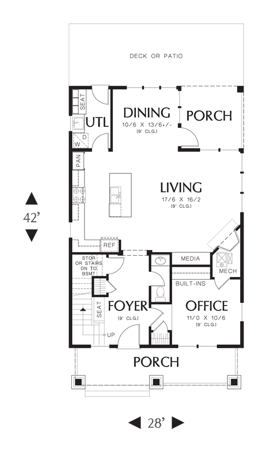 Coastal house plan 21133 the darlington 1925 sqft 3 for Starter home floor plans