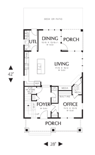 Image for Darlington-The Perfect Seaside Cottage or Starter Home -Main Floor Plan