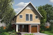 Front Rendering of Mascord House Plan 21134 - The Barnoldswick