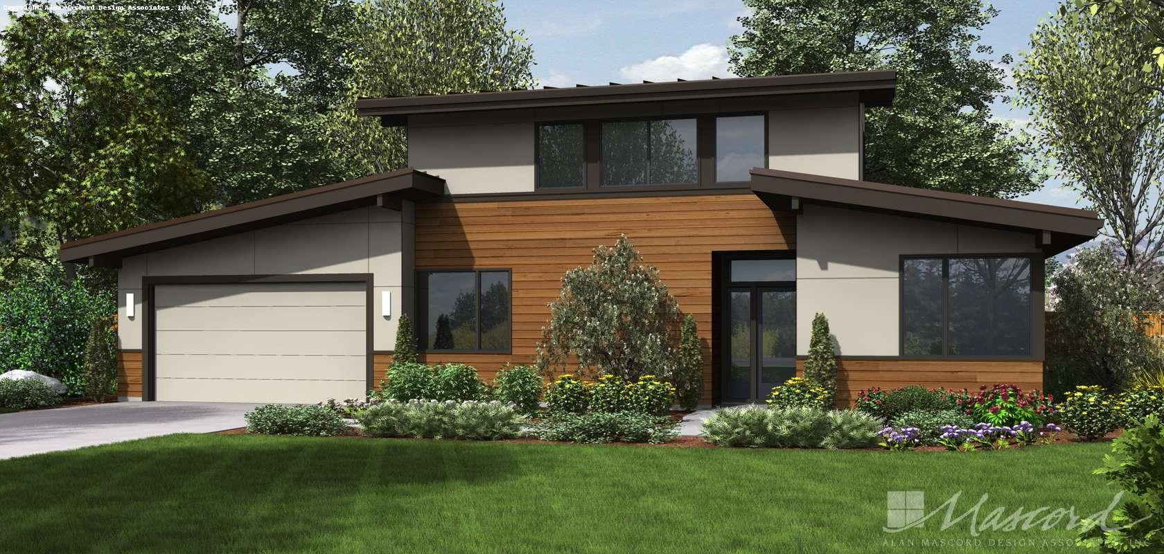 Mascord House Plan 21135: The Caldersyke